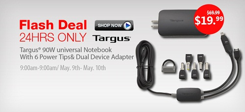 flashdeals Targus 90W Universal Notebook/MP3 AC Adapter