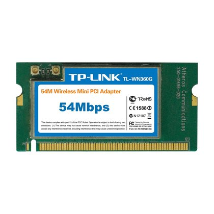 TP-LINK 54Mbps Wireless Mini PCI Adaptor