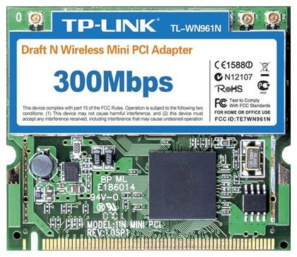 TP-LINK Wireless MINI-PCI Network Adapter 802.11B/G/N MIMO 3T3R