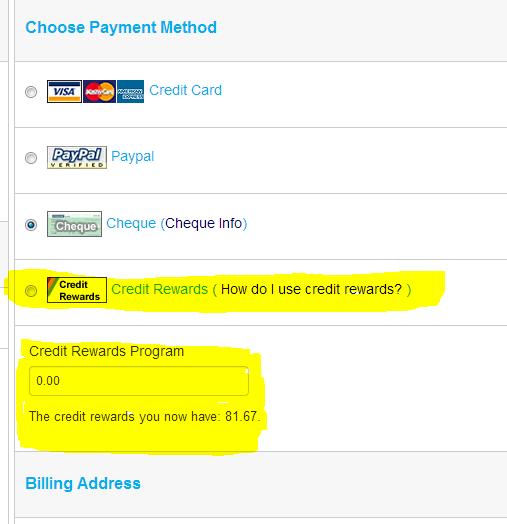 use credit reward system