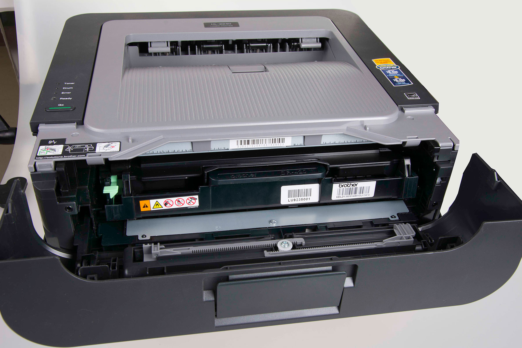 Compatible TN-450 fits in the drum and printer with no problem