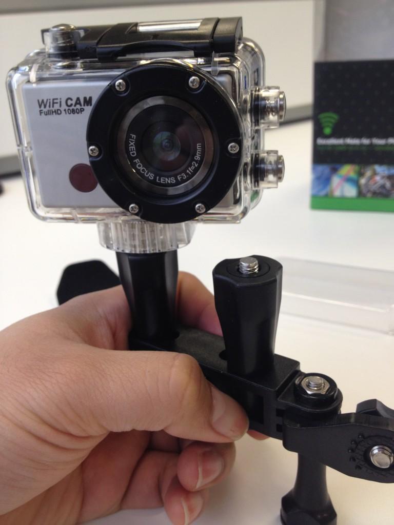 sport cam with bike stander