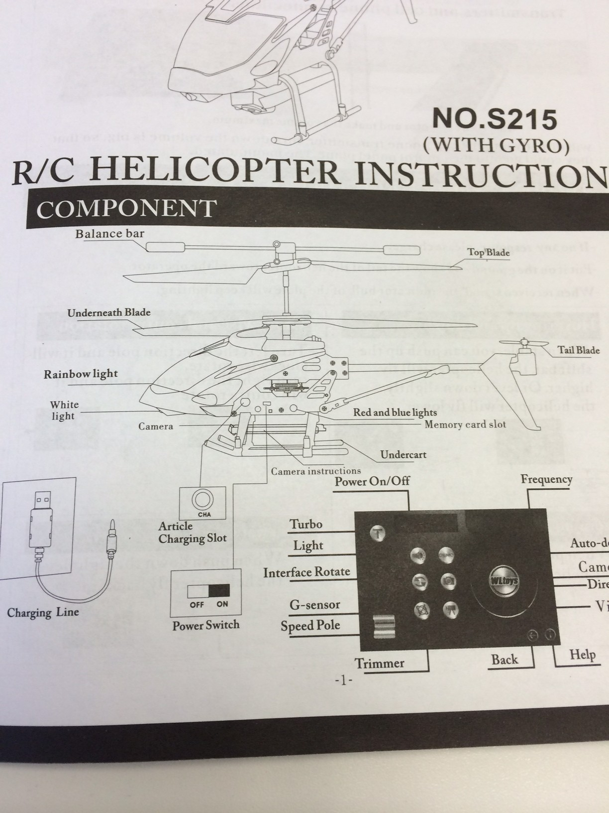 S215 RC Helicopter