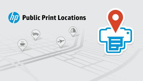 No matter where you are, print on the road through thousands of Public Print Locations, such as FedEx Office stores, UPS Stores, Walgreens, hotels, airport lounges, and more.