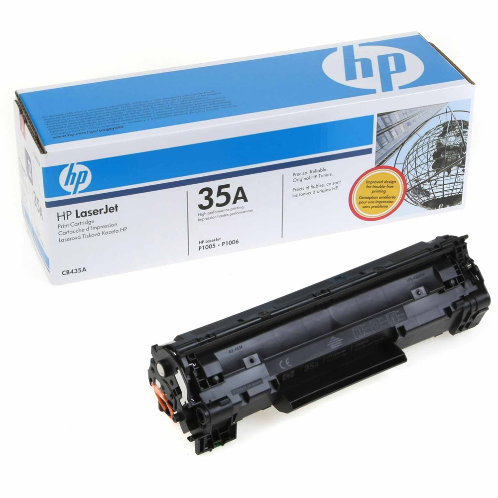 HP 35A (CB435A) OEM Black Toner Cartridge