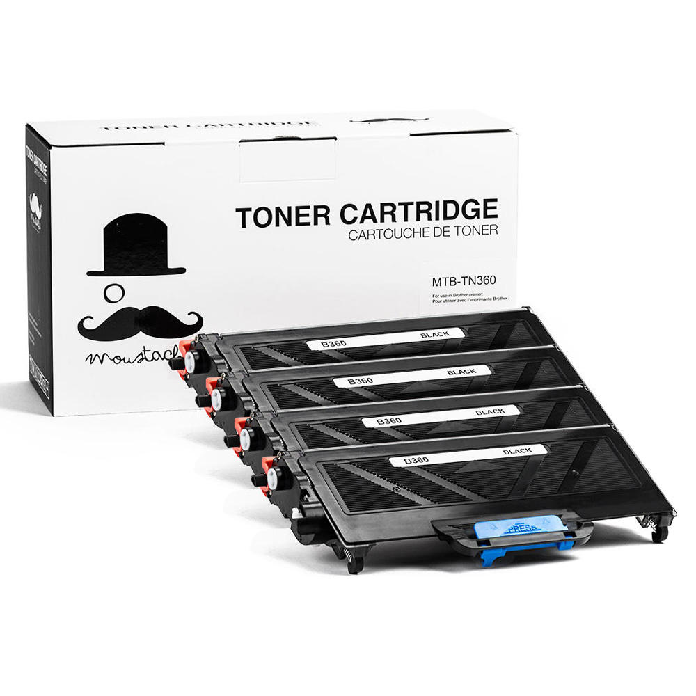 Moustache Brother TN-360 Compatible Toner Cartridge 4-pack