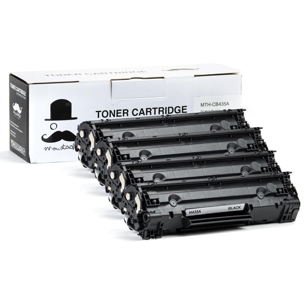 Moustache HP 35A (CB435A)  Compatible Black Toner Cartridges 4 PACK