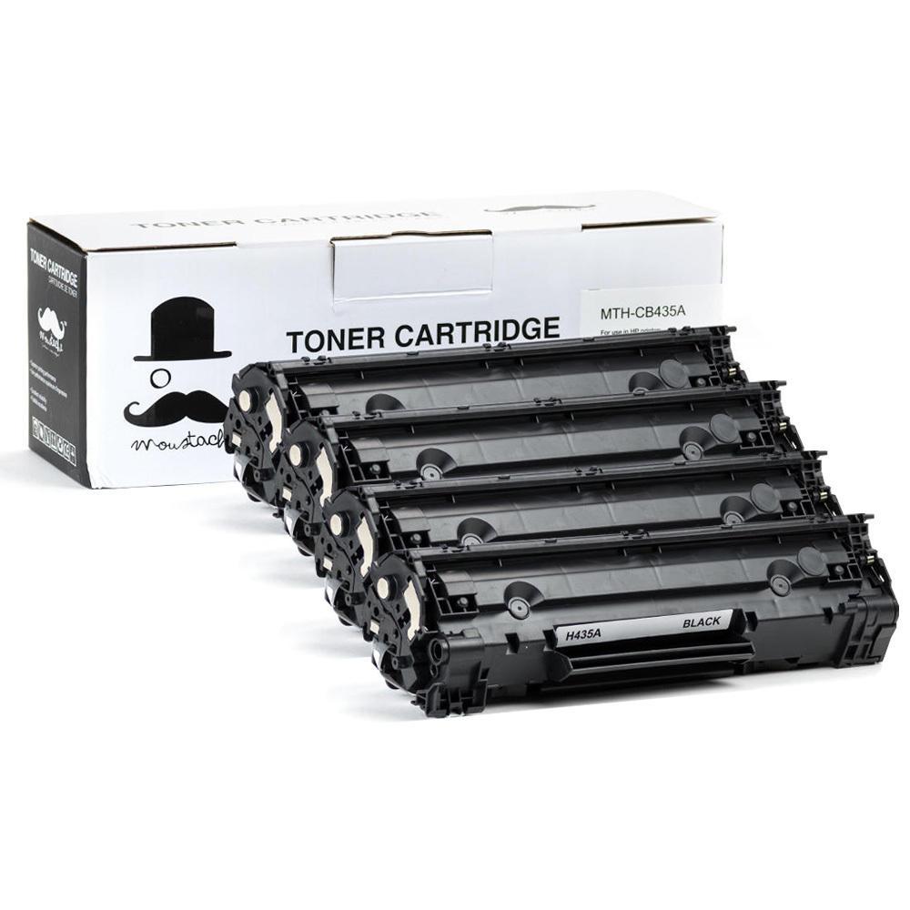 Moustache HP 35A (CB435A)  Compatible Black Toner Cartridges 4 PACK
