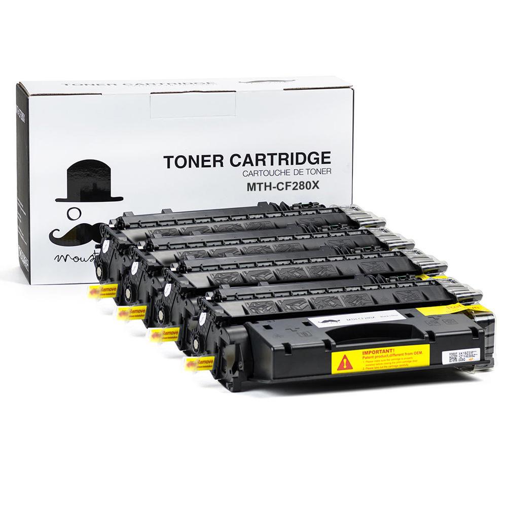 Moustache HP CF280X Compatible Toner Cartridge 4-pack