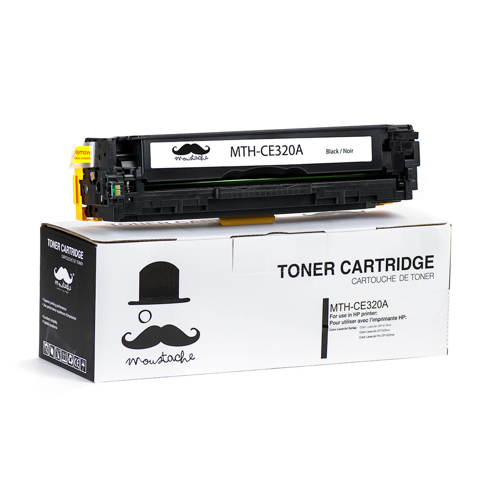 Moustache HP 128A CE320A Compatible Black Toner Cartridge