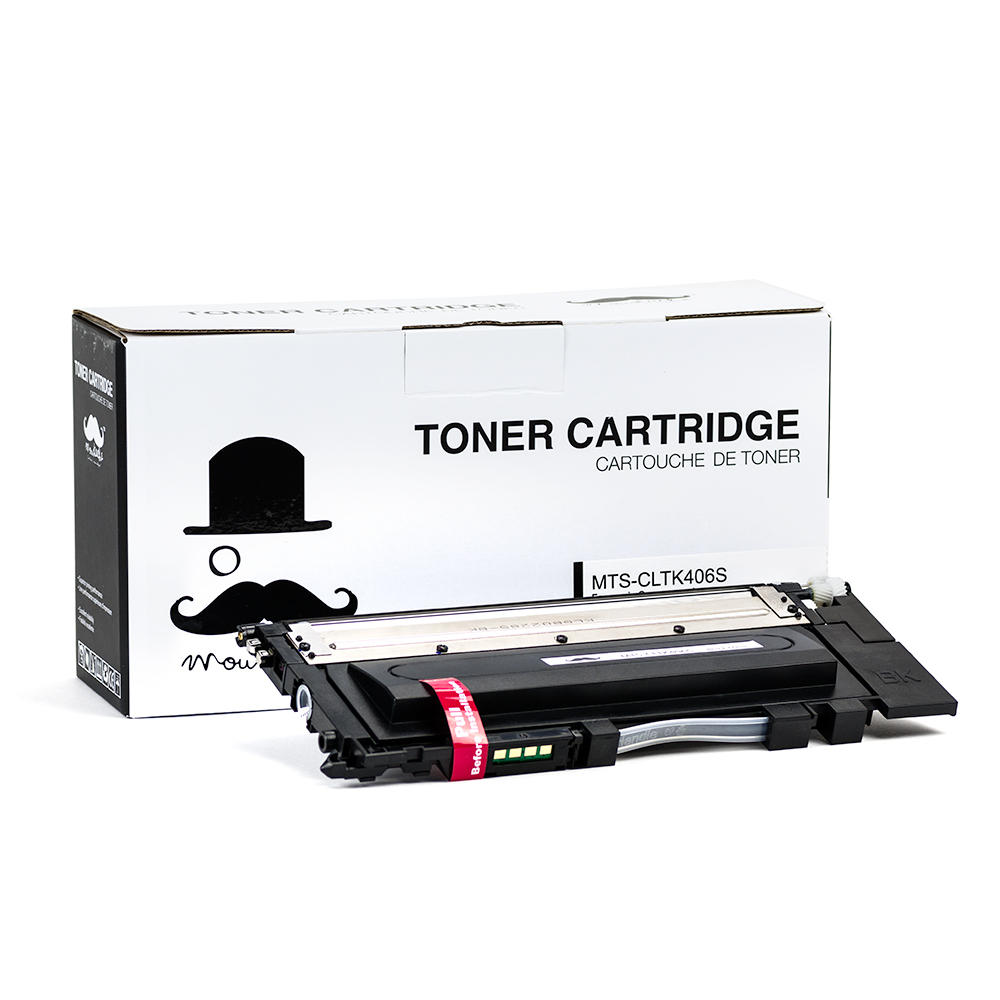 Samsung CLT-K406S New Compatible Black Toner Cartridge - Moustache