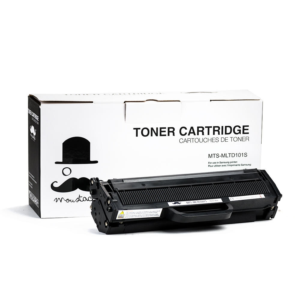 Samsung MLT-D101S New Compatible Black Toner Cartridge - Moustache