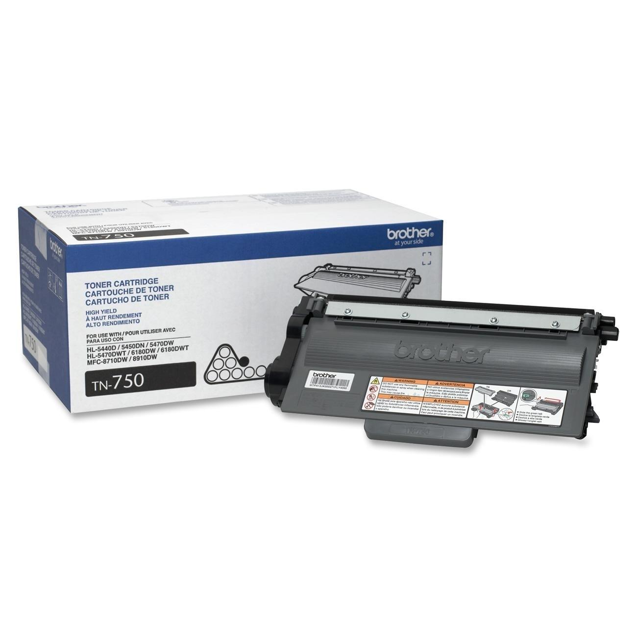 Brother TN-750 OEM Black Toner Cartridge High Yield