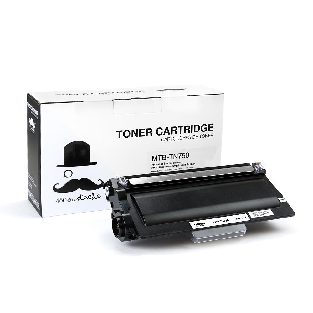 Moustache Brother TN-750 New Compatible Black Toner Cartridge (High Yield)