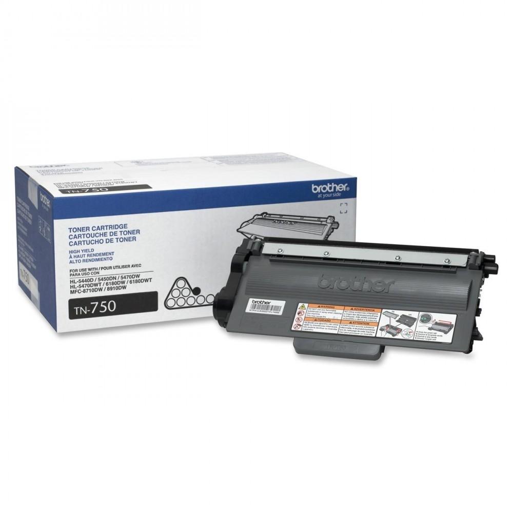 Brother TN-750 OEM Black Toner Cartridge