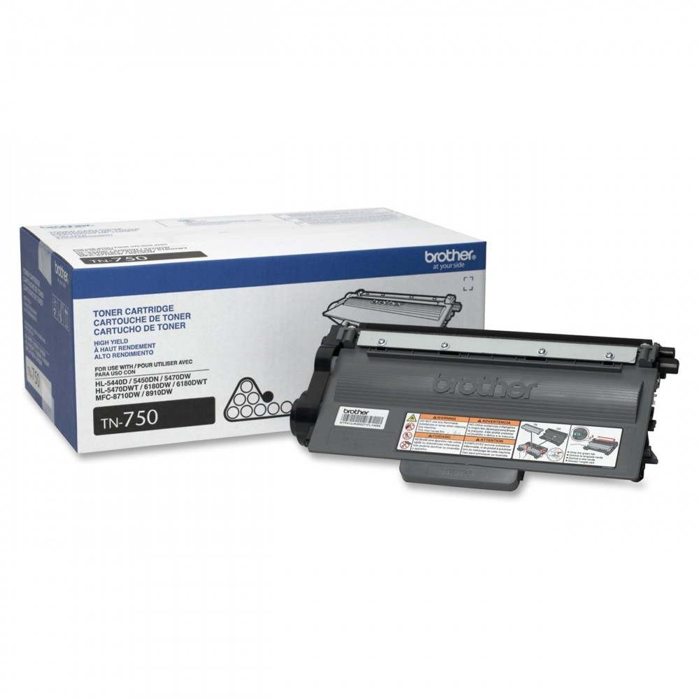 Brother TN-750 OEM Black Toner Cartridge