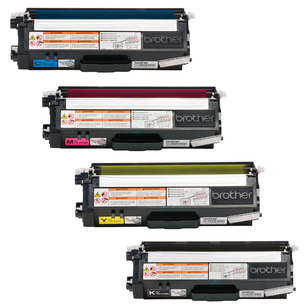 TN-310 BK/C/M/Y OEM Toner Cartridge Combo set