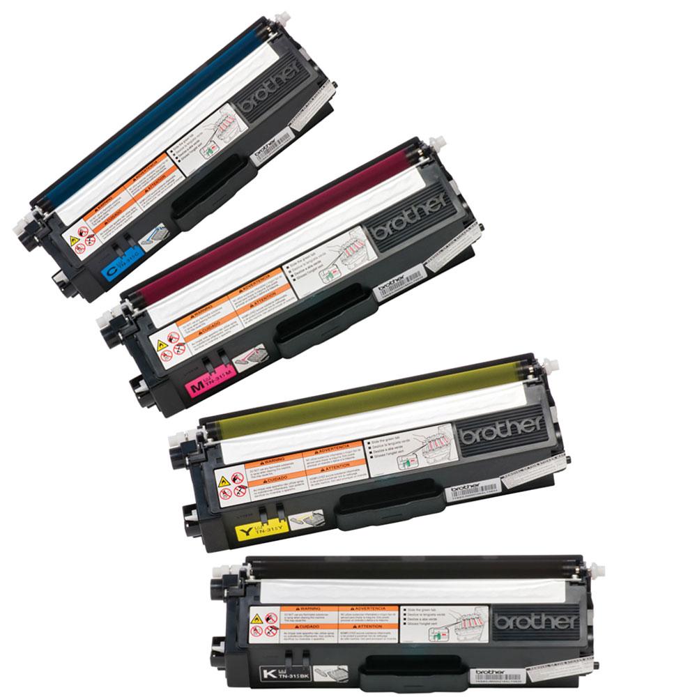 Brother TN-315 BK/C/M/Y OEM Toner Cartridge Combo set (High Yield Version of TN-310)