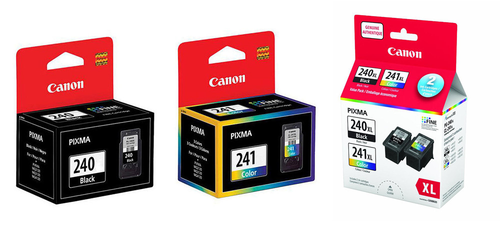 Canon PG-240 CL-241 PG-240XL CL-241XL OEM Ink Cartridges