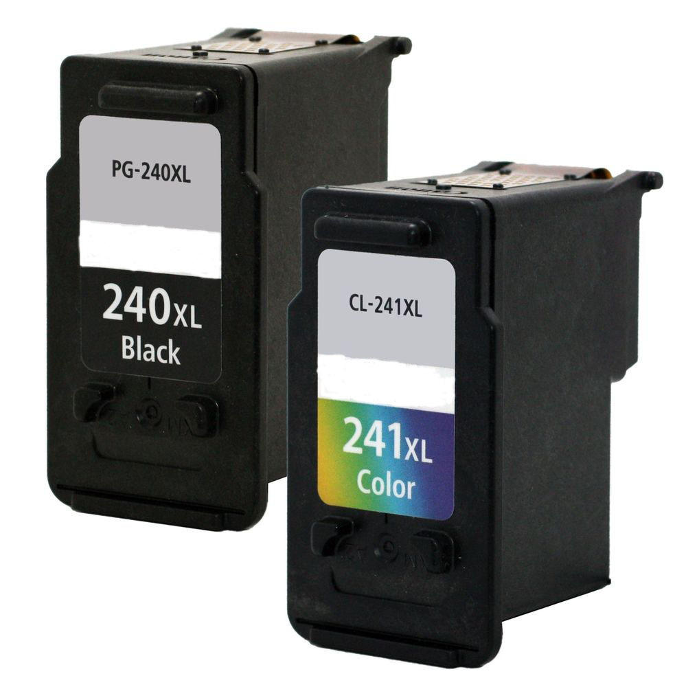Canon PG-240XL & CL-241XL Remanufactured Ink Cartridge Combo Set