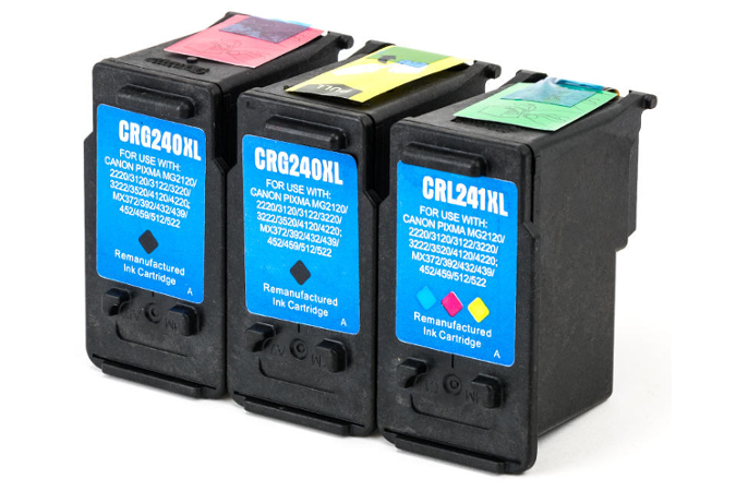 Canon 2xPG-240XL & CL-241XL Remanufactured Ink Cartridge Combo