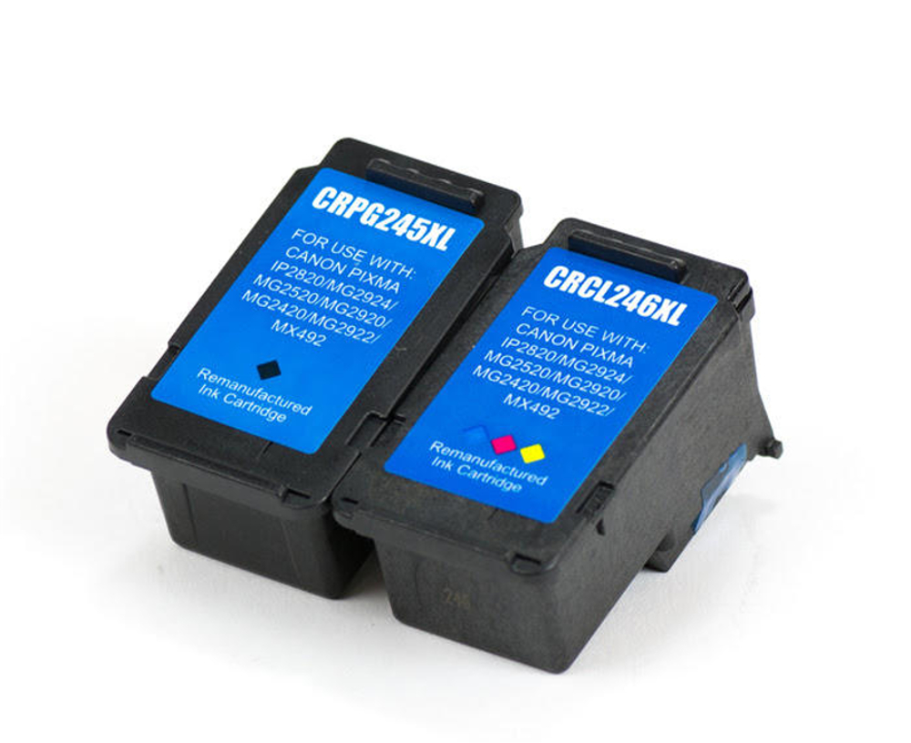 Canon PG-245XL & CL-246XL Remanufactured Ink Cartridge Combo Set