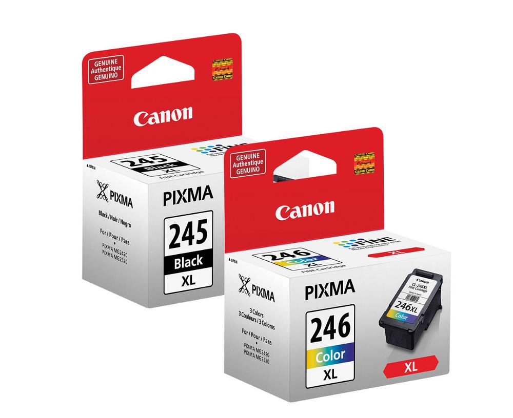 Canon PG-245XL & CL-246XL Original Black & Color Ink Cartridges