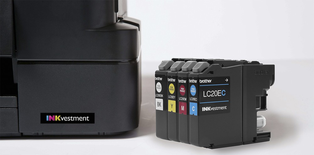 Brother LC20EBK/C/M/Y Ink Cartridges Super High Yield