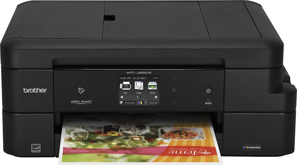 Brother MFC-J985DW Work Smart All-in-One Inkjet Printer