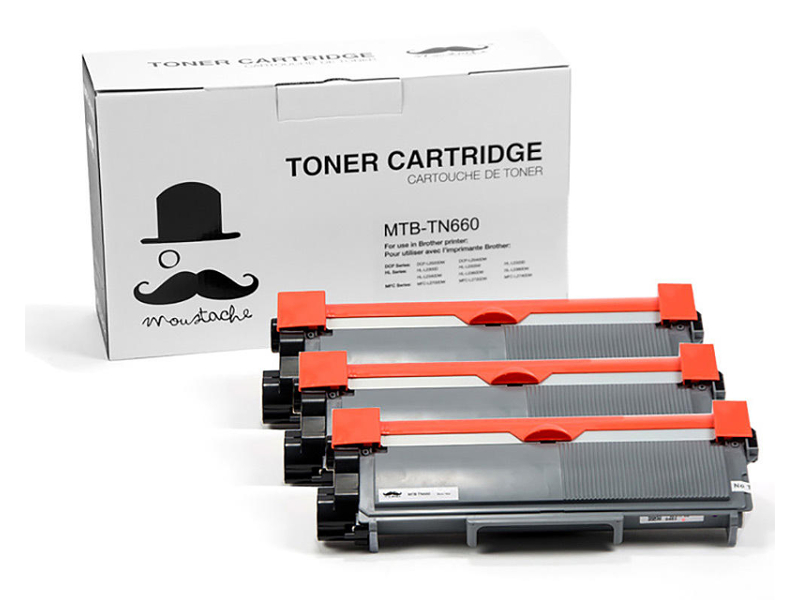 A new compatible 3/pack combo set of TN660 - Moustache®