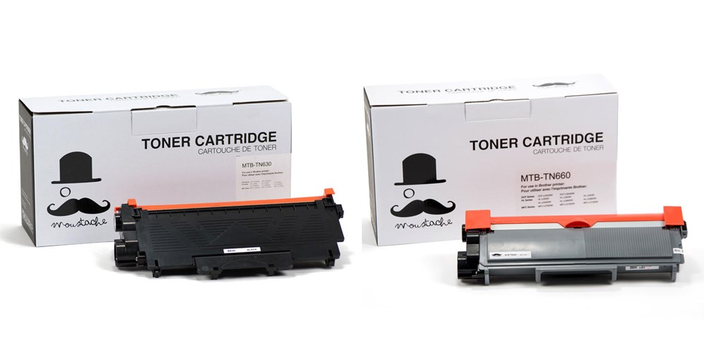 Brother TN-630/TN-660 New Compatible Black Toner Cartridge - Moustache®