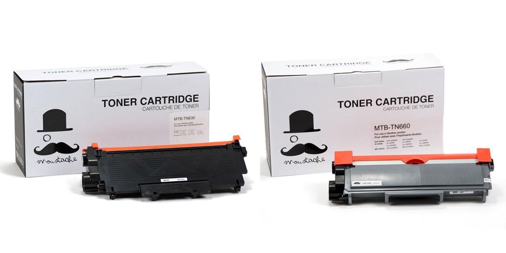 Brother TN-630/TN-660 New Compatible Black Toner Cartridge - Moustache®