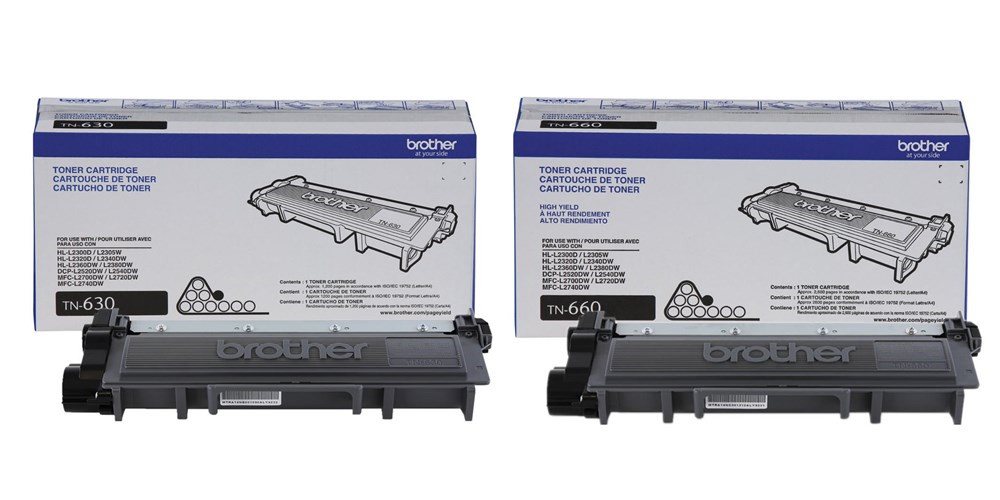 Brother TN-630/TN-660 Original Black Toner Cartridges