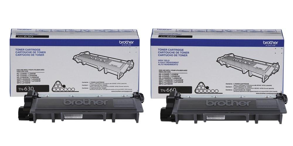 Brother TN-630/TN-660 Original Black Toner Cartridges