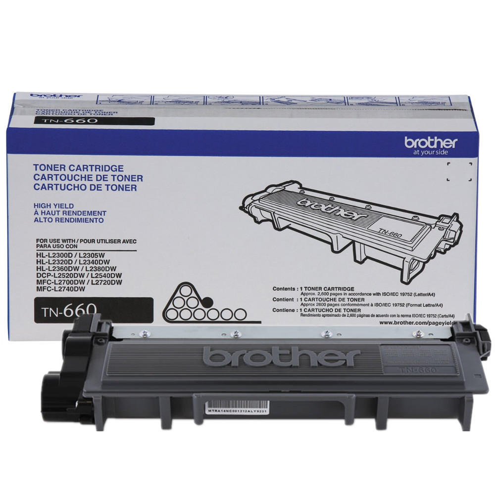 Brother TN660 Original Black Toner Cartridge (High Yield)