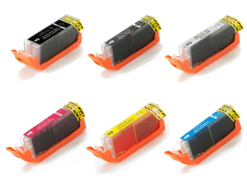 Canon PGI-270XL & CLI-271XL BK/GY/C/M/Y New Compatible Ink Cartridges Combo Set