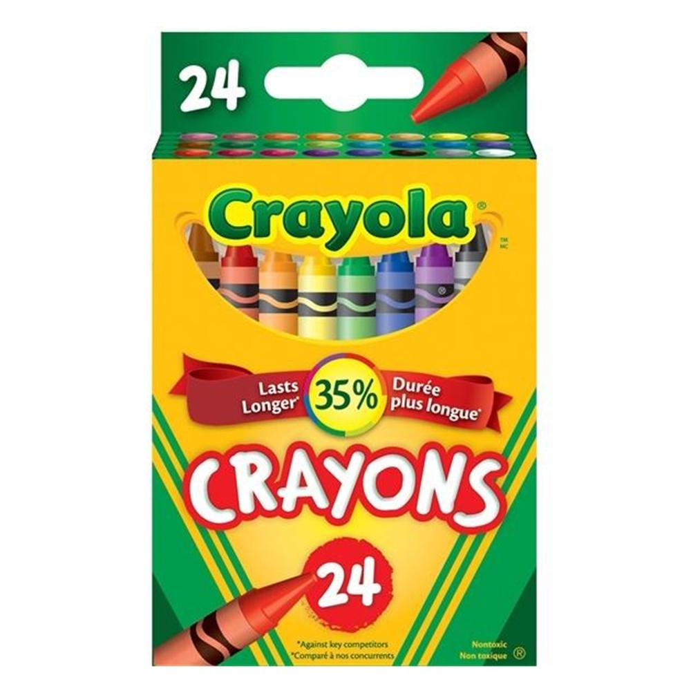 Crayola Non-toxic Crayons, 24-Count