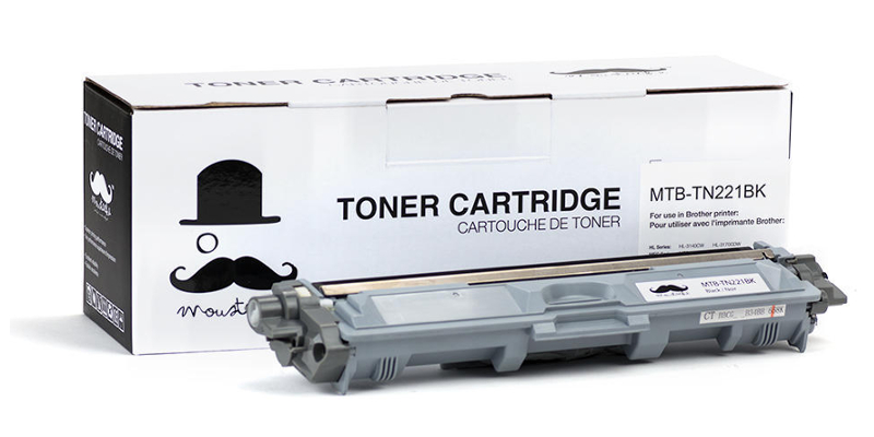 Brother TN-221 New Compatible Black Toner Cartridge - Moustache®