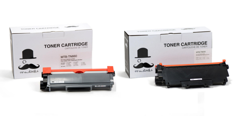 Brother TN-630 TN-660 New Compatible Black Toner Cartridge - Moustache®