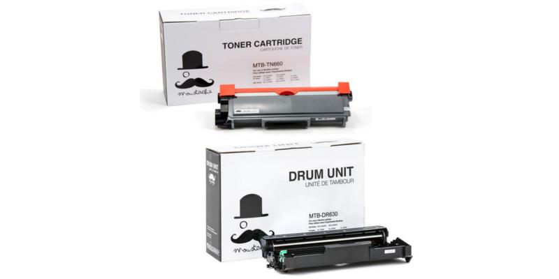 Brother TN-660 & DR-630 Compatible Toner Cartridge & Drum Unit Combo - Moustache®