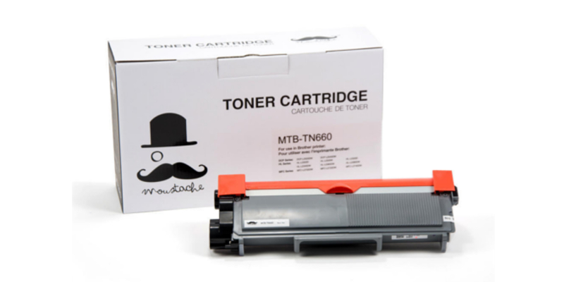 Brother TN-660 New Compatible Black Toner Cartridge - Moustache®