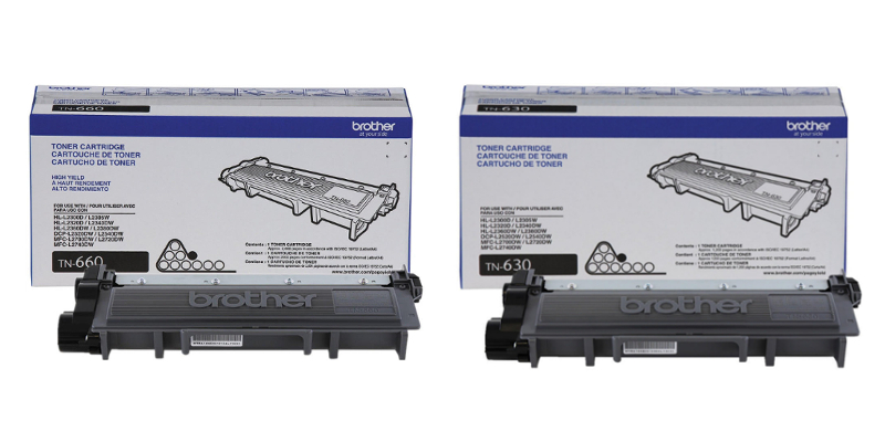 Brother TN-660 TN-630 Original Black Toner Cartridge