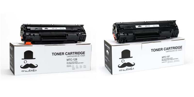 Canon 128 and 137 New Compatible Black Toner Cartridge - Moustache®