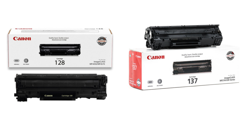 Canon 128 and 137 OEM Black Toner Cartridges