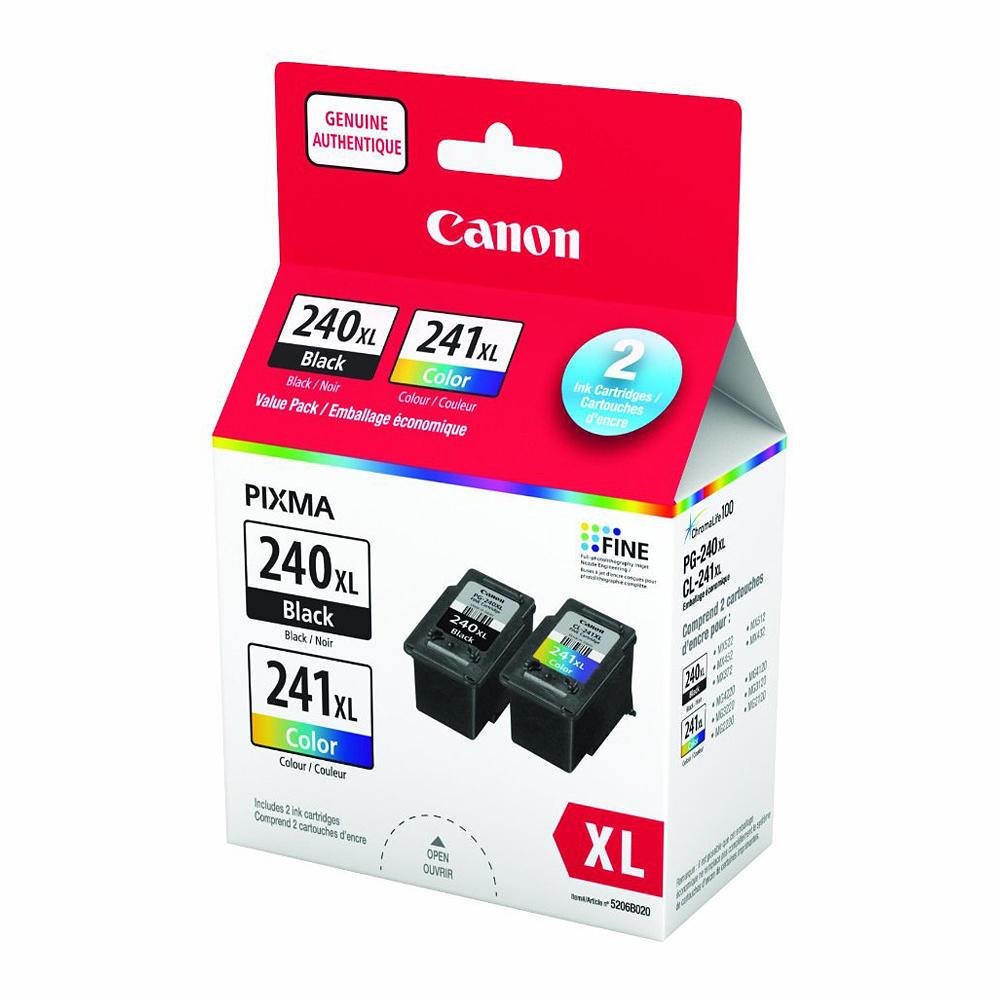 Canon PG-240XL CL-241XL Original Black-Color Inkjet Cartridges Value Pack