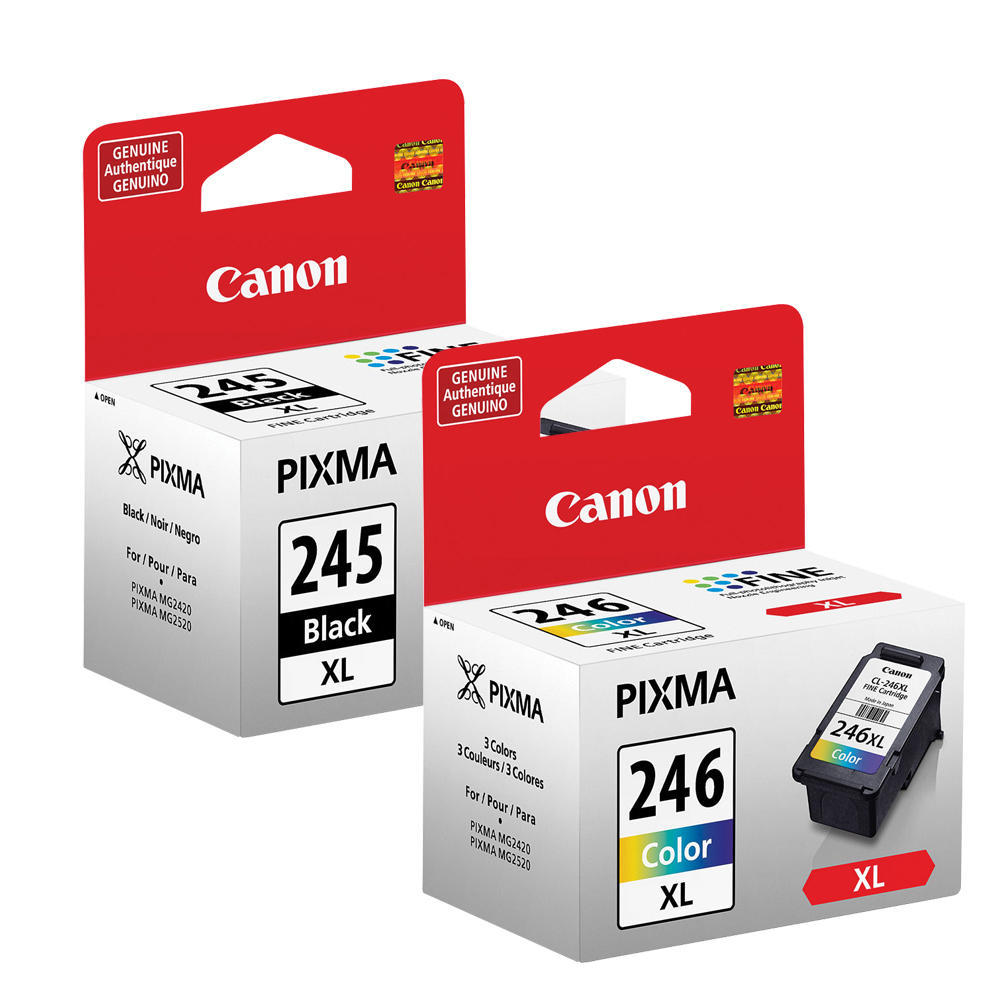 Canon PG-245XL-CL-246XL Original Black-Color Ink Cartridges Value Pack