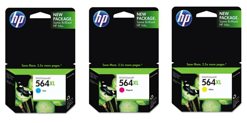 HP 564XL Original Cyan/Magenta/Yellow Ink Cartridges
