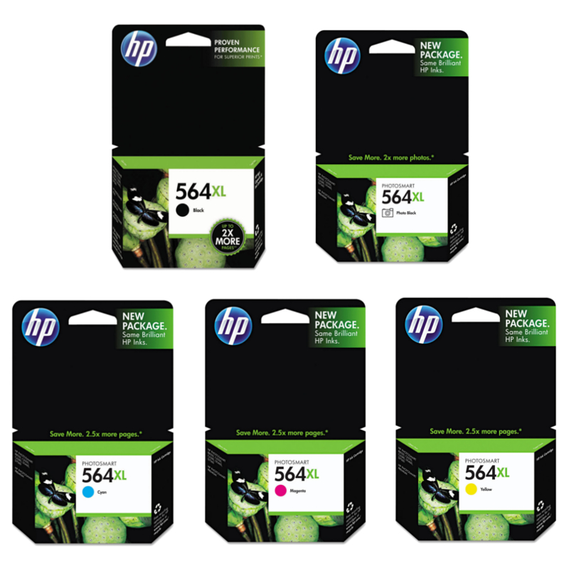 HP 564XL series original ink cartridges