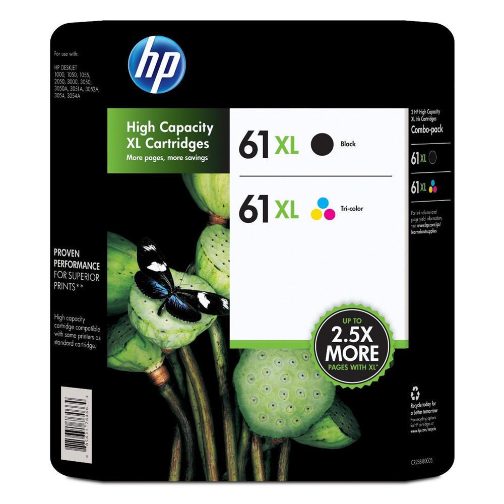 HP 61XL Original Black Tri-Colour Ink Cartridges Combo Set