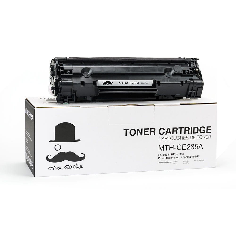 HP 85A CE285A New Compatible Black Toner Cartridge - Moustache®
